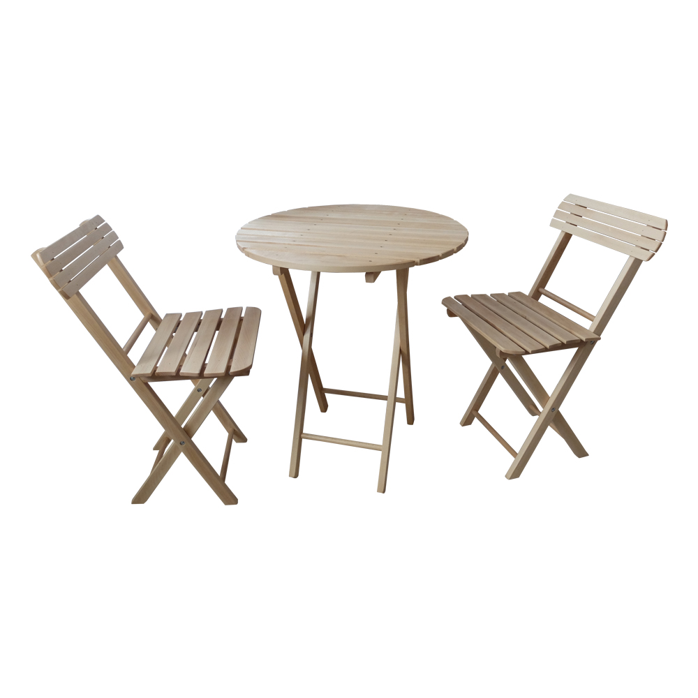 A set of folding table + 2 chairs